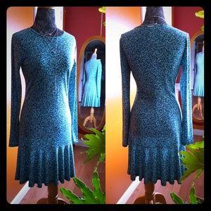 Michael Kors soft flarec flirty green dress Small